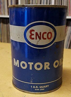 Vintage ENCO (Humble) Motor Oil quart can-SAE 20W-20 -FULL!