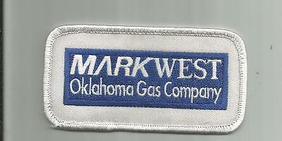 Vintage Markwest Oklahoma Ok Gas Company Patch Elk City Butler Sewn 4 Inches
