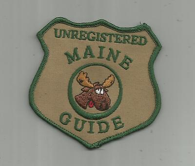 Vintage Unregistered Moose Hunter Maine Me Guide Patch Hunting Guns Unsewn