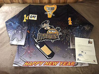 Peoria Rivermen Game Worn Used AHL Specialty Jersey St Louis Blues NHL Authentic