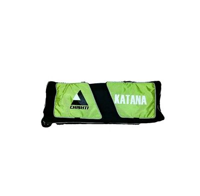 Chishti Katana Wheelie Cricket Kit Bag Lime Green Luggage ( Black/ Lime Green)