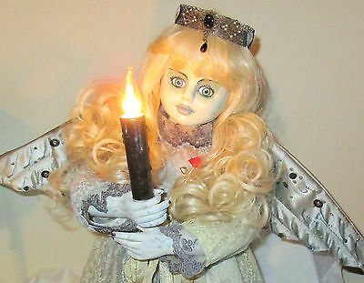ANGEL OF DARKNESS DOLL OOAK Lighted remake horror Halloween Large 2 FT tall