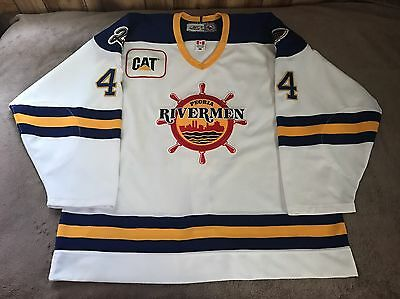 Peoria Rivermen Game Worn Used AHL Specialty Jersey St Louis Blues 56 Authentic
