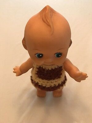 KEWPIE DOLL POWDER SHAKER + Knit Suit 8""