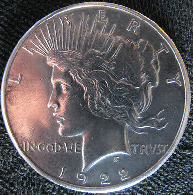 Extremely Fine 1922 Peace Silver Dollar - San Francisco Mint