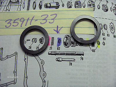 """Harley 45 Flathead,Solo's & Servi-cars Tranny Counter Shaft Washers """"TWO"""""""