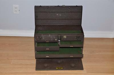 Vintage Kennedy Model 520 Metal Machinist Tool Box With 7 Drawers