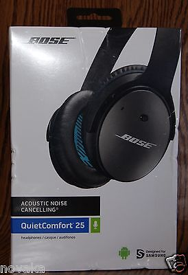 BOSE QuiteComfort 25 Acoustic Noise Cancelling Headphones Samsung Android New