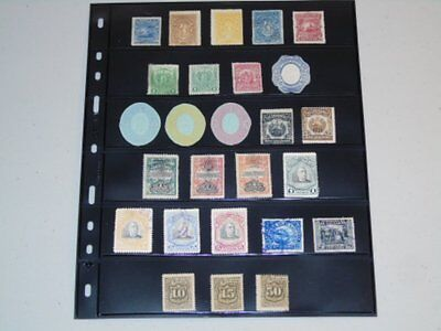 Stamp Pickers El Salvador Early Page Lot Estate Lot Mint & Used