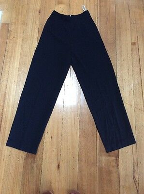 Vintage Navy Country Road Dress Pants, High Waisted Flat Fronted