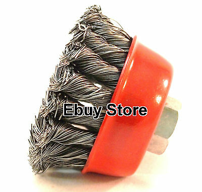 """4"""" Steel Wire Wheel Knotted Cup Brush Rotary Steel Brush 8500 RPM"""