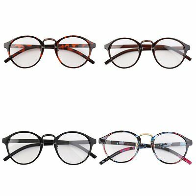 Retro Geek Vintage Nerd Large Frame Fashion Round Clear Lens Glasses NEW HK