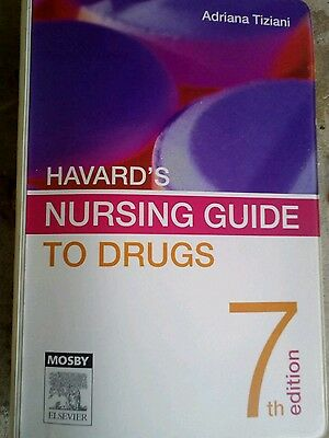 Havard's Nursing Guide to Drugs by Adrianna P. Tiziani (Paperback, 2005)