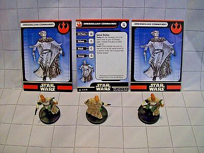 WotC Star Wars Miniatures Dressellian Commando,Universe 46/60,Rebel,Com,Lot of 3