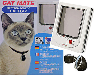 Massive Sale - Cat Mate Electromagnetic 4 Way Locking Cat Door Flap Rrp $149