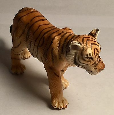 """Collectible 2003 Schleich Molded Figure of a 4 1/2"""" Walking Tiger"""