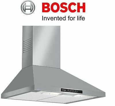 Bosch DWW06W450B 600mm Chimney Extractor Hood With 3 Speeds In Brushed Steel NEW