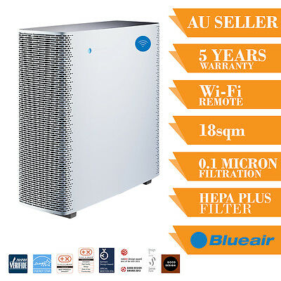 NEW Blueair Sense= Home Air Purifier HEPA Filter With Wi-Fi Tower Office Room