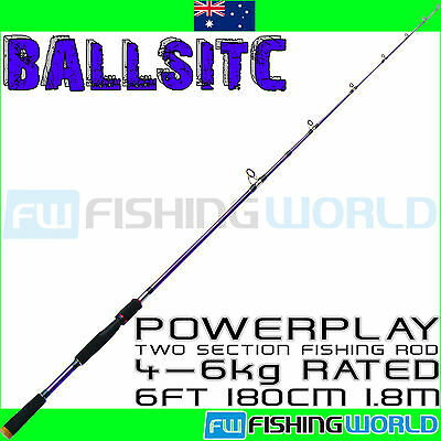 BALLISTIC POWERPLAY 180 6ft 1.8m 4-6kg COMPOSITE CARBON SPINNING FISHING ROD