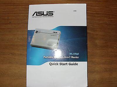 ASUS WL-330gE, E4485, Wireless 4-in-1 Router, Quick Start Guide, W-LAN Handbuch
