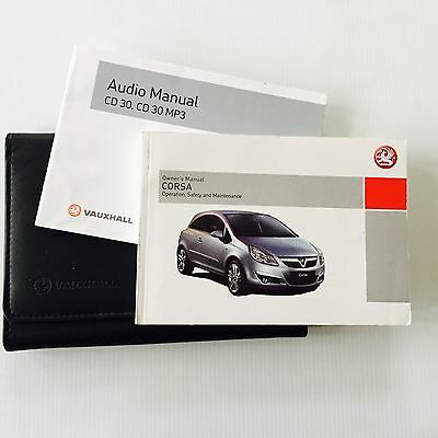 Vauxhall Corsa D  Owners handbook and audio book 2006 To 2010