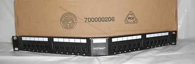 COMMSCOPE SYSTIMAX 24 P0RT Cat 6 Angled patch panel 1100AGS-24