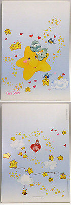 Care Bears Italian School Exercise Book 1985 Wish Bear On Star 11-In