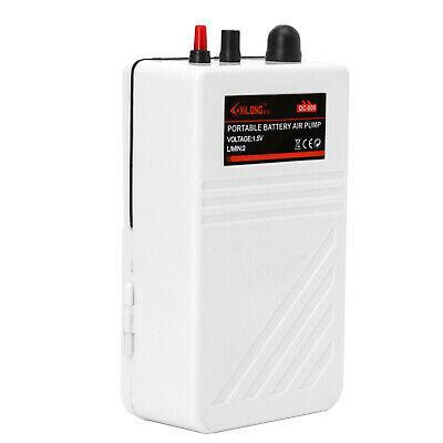 NEW Aquarium Battery Operated Fish Tank Air Pump Aerator Oxygen With Air Stone