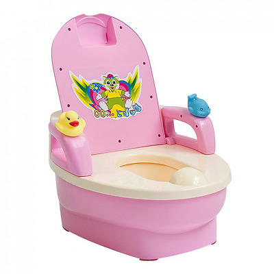 FASCOL Toddler WC Potty Toilet Training Seats for Baby/Children, Pink