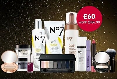 No7 Party Season Bundle RRP£186 Brand New Gift Set With 14 Items