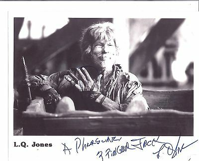 """L.Q. JONES- Western Film Actor In -""""The Wild Bunch """"-1969 -Signed 8x10 Pic"""