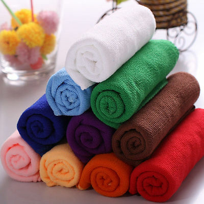 20Pcs/lot Mixed Color Microfiber Car Cleaning Towel Kitchen Washing Set Sanwood
