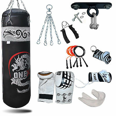 A Boxing 3FT Punching Training Set Heavy Filled Kickboxing Punch,Bracket,Chain