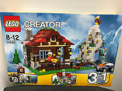 LEGO 31025 Creator Mountain Hut - BRAND NEW Sealed in Box