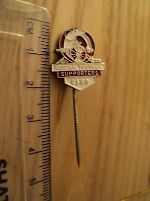 Vintage Arsenal  Football Supporters Club Football Badge.stick Pin Design