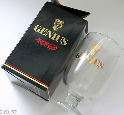 Guinness - Limited Edition   '' Genius ''  Glass Goblet In Box - New