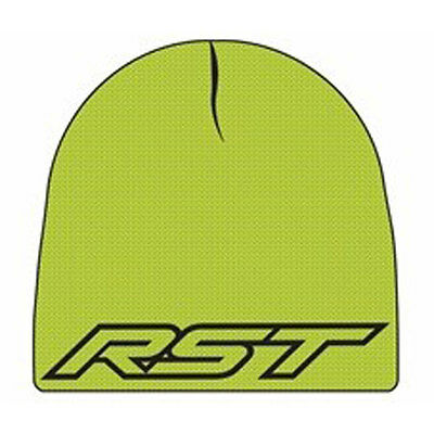 RST Casual Black / Neon Green Motorbike Reversible Beanie / Cap / Hat | One Size