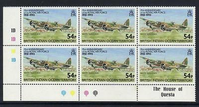 BRITISH INDIAN OCEAN TERRITORY1993 75th ANNIV R.A.F SG139 U/M CORNER CAT £12