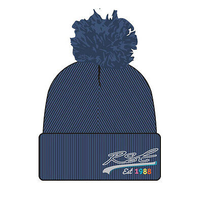 RST Denim Blue Motorcycle Motorbike Ladies Embroidered Bobble Hat | One Size
