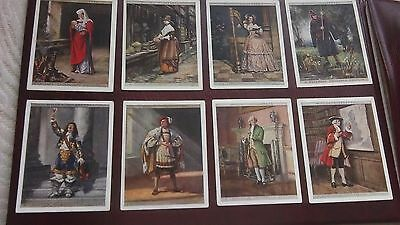 wills english period costumes large set of 25 cigarette cards
