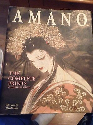 The Complete Prints of Yoshitaka Amano RARE OUT OF PRINT (*beautiful artwork*)