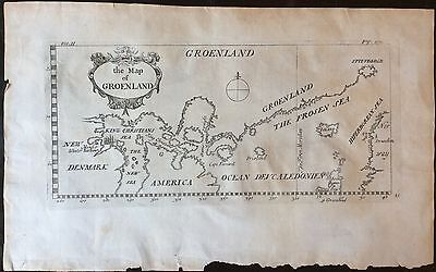 """Rare & Fascinating 1704 Map Of The North Atlantic - """"the Map of Groenland"""""""
