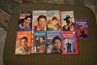 9 Harlequin Intrigue paperback books - Aimee Thurlo, Carly Bishop, Amanda Steven