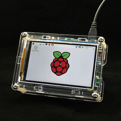 "3.5""HD High-Speed Display Screen + Acrylic Enclosure Case Kits for Raspberry Pi"