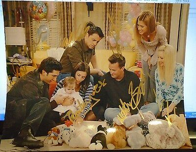 Friends Tv Sitcom Signed Full Colour Photo Authenticated