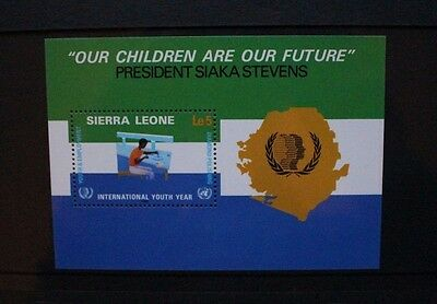 SIERRA LEONE 1985 Int Youth Year. SOUVENIR SHEET. Mint Never Hinged. SGMS861