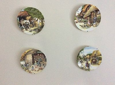Royal Doulton Wall Plates including hanging brackets - Set of 4