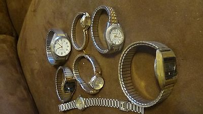 OLD wristWATCHES Steampunk accessories  gears and such