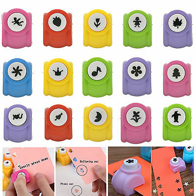 28 Styles Kids Scrapbooking Card Paper Cutter Hand Punch Circle Hole DIY Craft