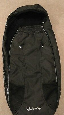 Quinny Foot Muff Black Reflection - Excellent Condition